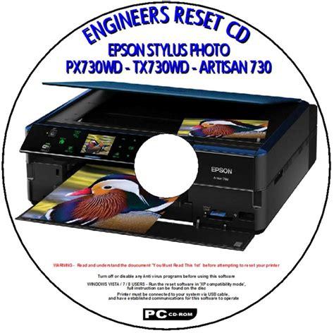 reset ip2770 waste ink epson px730wd tx730wd artisan 730 printer waste ink pad