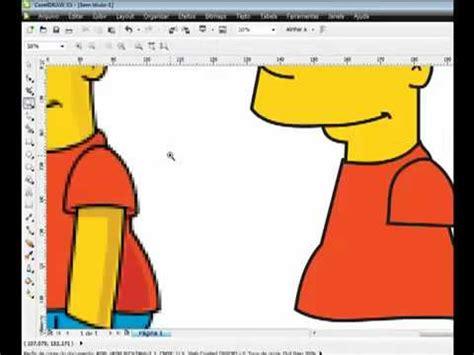 corel draw x5 indowebster corel draw x5 vetorizando o bart simpson youtube