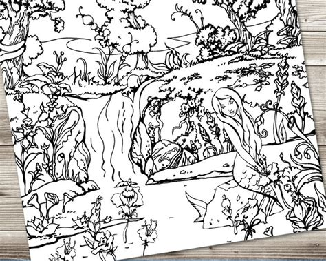 rainforest waterfall coloring page forest waterfall coloring page fabrikafantasy com