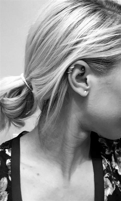 7 Parts I Like To See Pierced by 80 Layered Rook Piercings To Accessorize Your Ear
