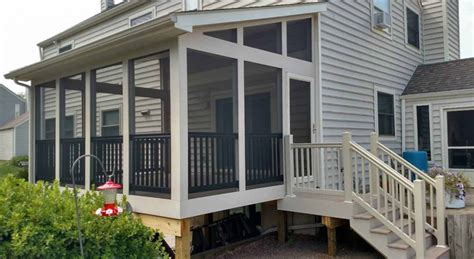 how to fix a sinking front porch decks in frederick md screened porches bradford