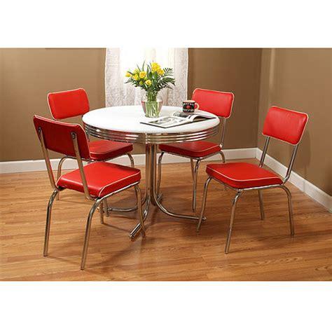 retro table and chairs walmart retro 5 dining set bundle walmart