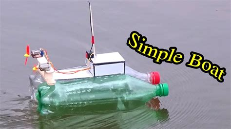how to make a boat with bottle how to make simple boat homemade rc boat easy from