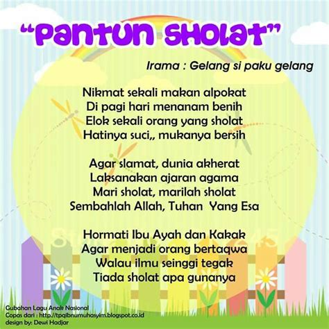 Sayang Anak Mainan Anak Beautiful Flying With Musi Limited pantun sholat original song gelang si paku gelang lirik lagu anak indonesia versi islami by