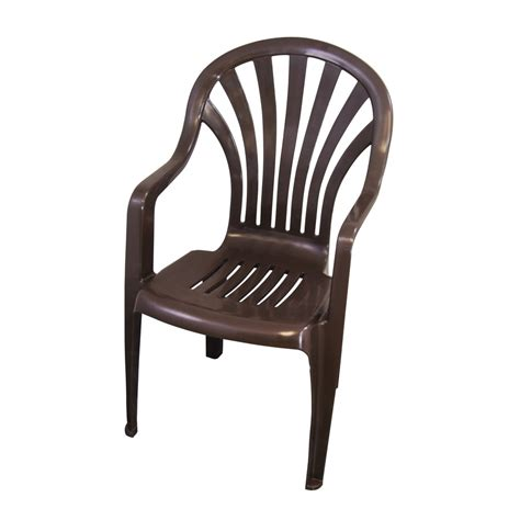 plastic outdoor chair shop gracious living earth brown seat plastic