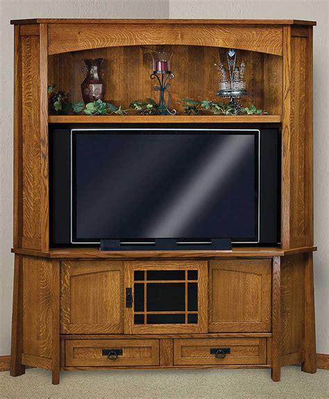 corner console modesto corner media console with hutch amish direct