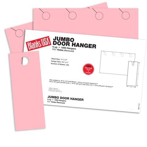 blanks usa templates pink jumbo door hangers 17 x 11 in 67 lb bristol