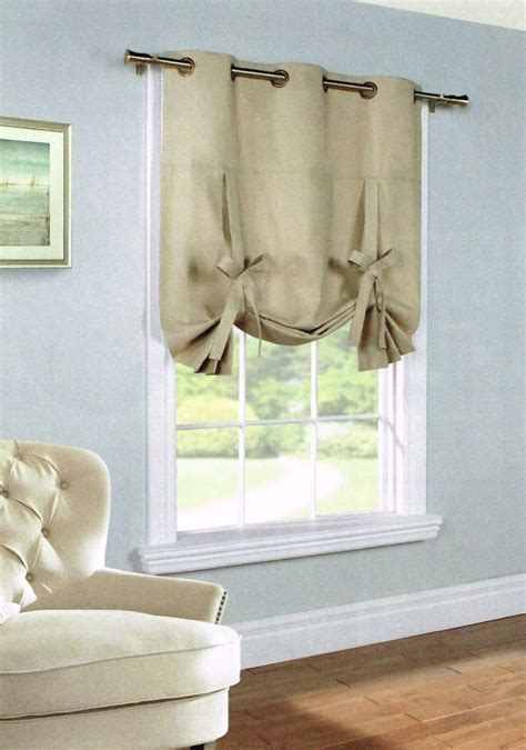 Tie Up Window Curtains Weathermate Insulated Grommet Tie Up Curtain Thermal Solid Color Curtain