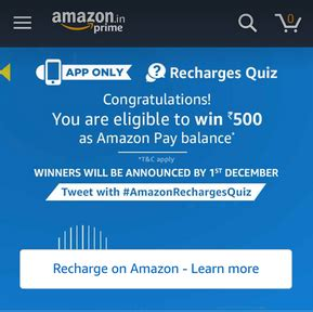 amazon quiz winner all answers amazon recharge quiz answers quiz time