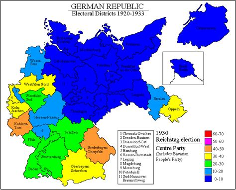 germany 1930 map psephos adam carr s election archive