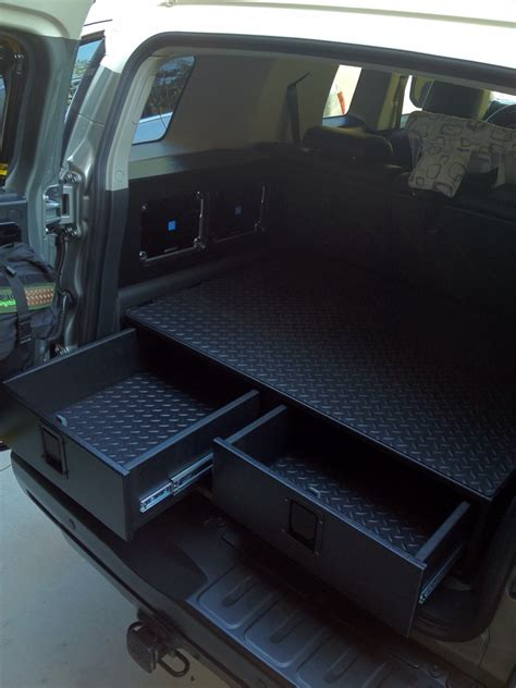 rear cargo drawer build toyota fj cruiser forum car
