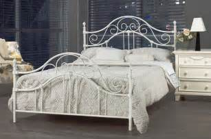 French Sconces Antique Bella White Wrought Iron Queen Bed Frame Contemporary