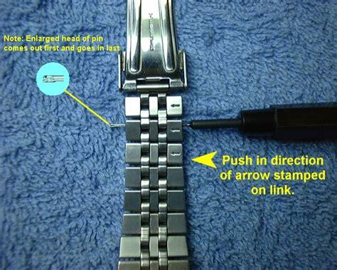 Resizing watch bands