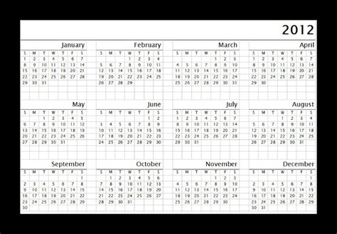 2012 calendar template free printable calendar 2017 january 2012