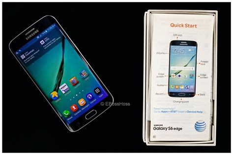 Samsung S6 Edge 32 Gb Like New samsung galaxy s6 edge at t smartphone 32gb like new ebosshoss knives