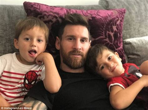 messi kid tattoo lionel messi s kids train with barcelona daily mail online