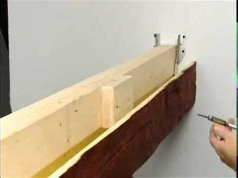 how to install wood beams on a ceiling suspended faux beam installation superior building