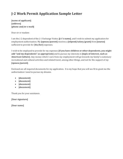 sle cover letter sle cover letter for work permit