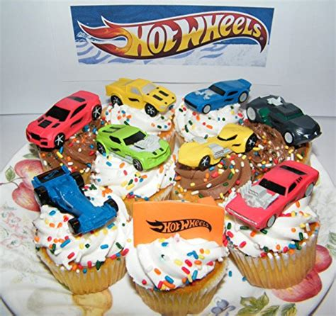 hot wheels race car sports car high tech car toy figure birthday cake toppers cupcake party