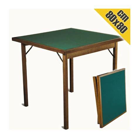tavolo da gioco pieghevole tavolo da gioco in legno classic 80x80 cm pieghevole