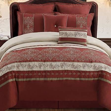 kirklands comforters queen bella red 8 pc comforter set kirklands