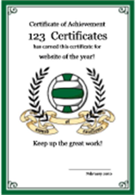free printable netball certificate templates and netball