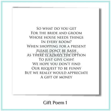 poems to put in wedding invites asking for money wedding money poems chosen touches luxury wedding