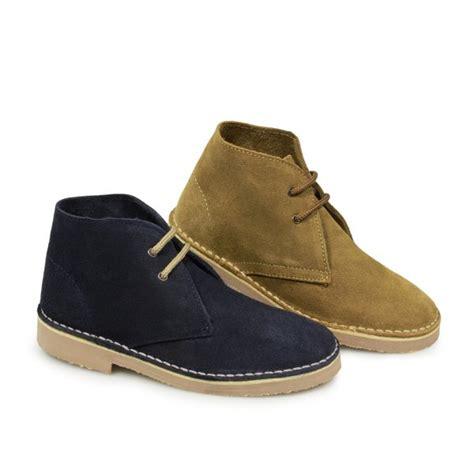 roamers boys junior suede desert boots sand