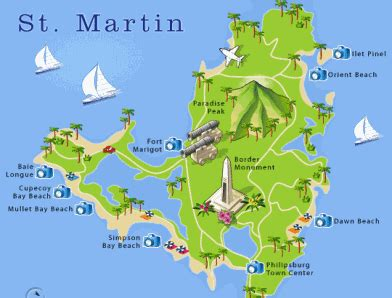 st martin map st martin map caribbean islands