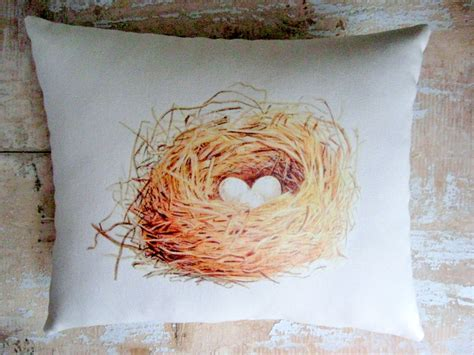 nest home decor bird nest pillow french country home french decor