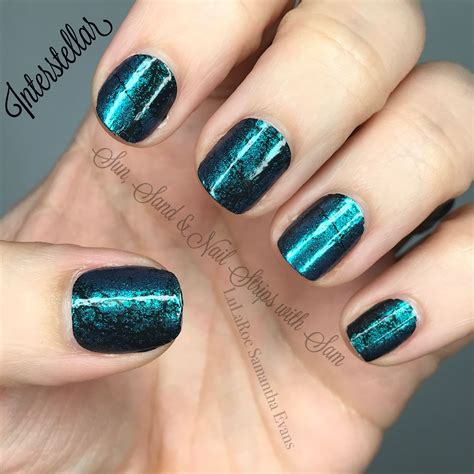color my nails interstellar by color teal black galaxy looking