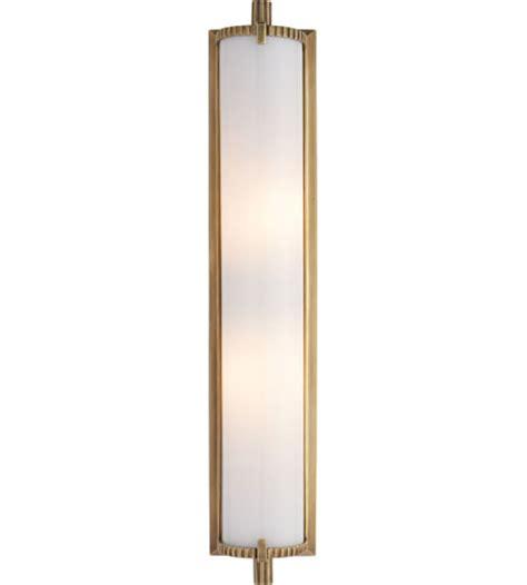 brass bathroom lighting visual comfort tob2185hab wg thomas obrien calliope 2 light 4 inch hand rubbed antique