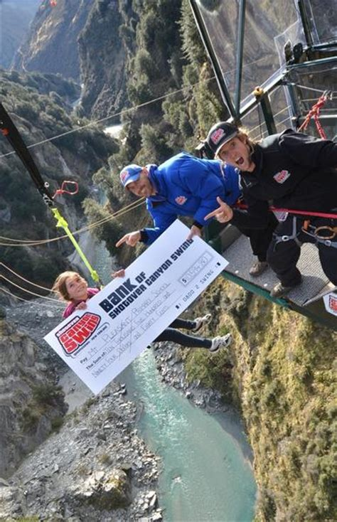 shotover swing shotover canyon swing fundraises for christchurch school