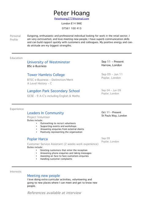 sle 1 page resume one page resume sle 28 images one page resume or two