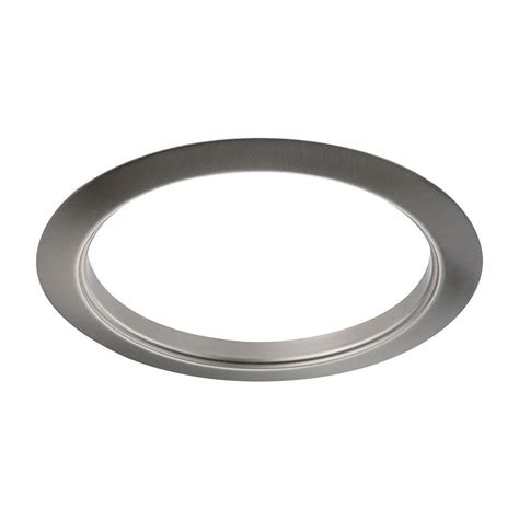 6 brushed nickel recessed light trim halo 6 in white recessed lighting baffle and trim ring