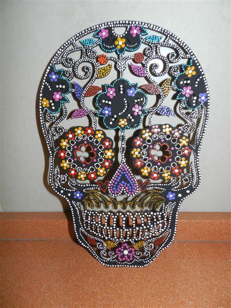 imagenes de calaveras decoradas con diamantina calavera decorada sweetart elo7