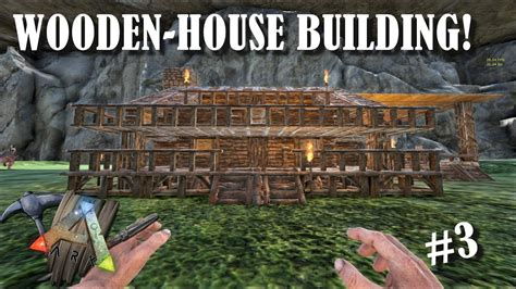 Cabin Blueprints Free ark survival evolved wooden house cave building youtube