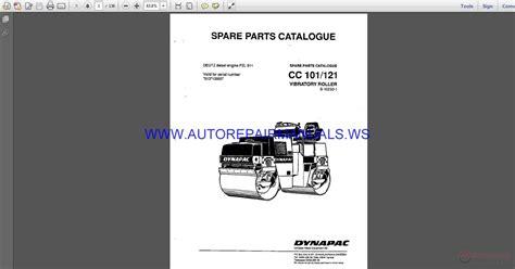 dynapac cc     spare parts catalogue auto