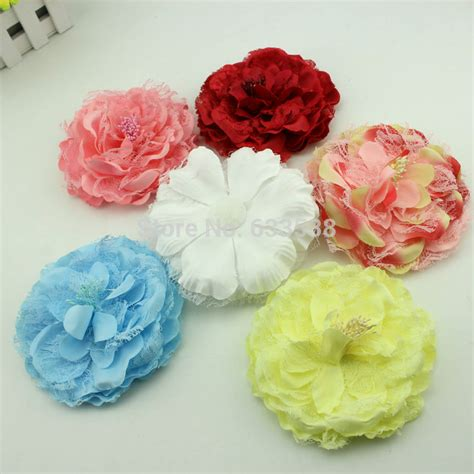 Peony Korean Bag 1 boutique wholesale fabric big peony flower without clip hair accessory for hat flower