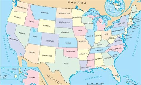 map us by state a large map of the united states of america showing all