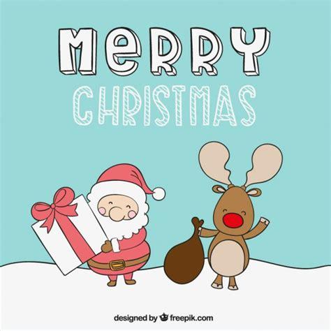 cute merry christmas illustration vector