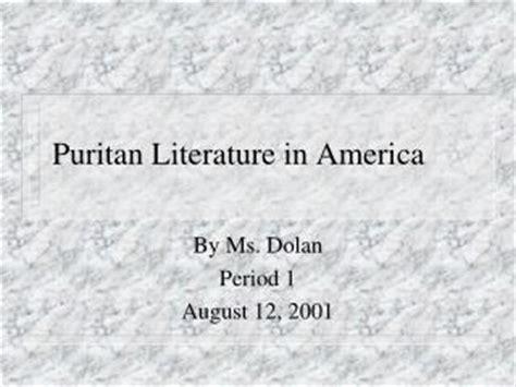 themes in puritan literature ppt puritan literature powerpoint presentation id 1976447