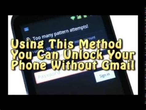 how to unlock android phone without gmail how to unlock android phone after many pattern attempts without gmail works for all