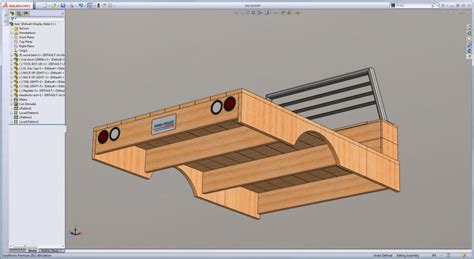 wood truck bed plans wood flatbed build 3d model and construction plans