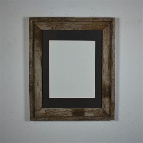 Picture Frames 11x14 Matted 11x14 barnwood picture frame with charcoal 8x10 mat by