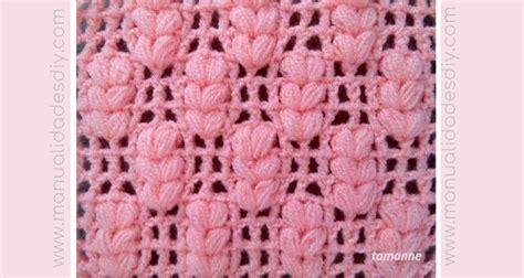 punto espiga tutorial punto espiga a crochet manualidades y