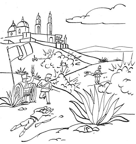 5 de mayo battle free coloring pages coloring pages