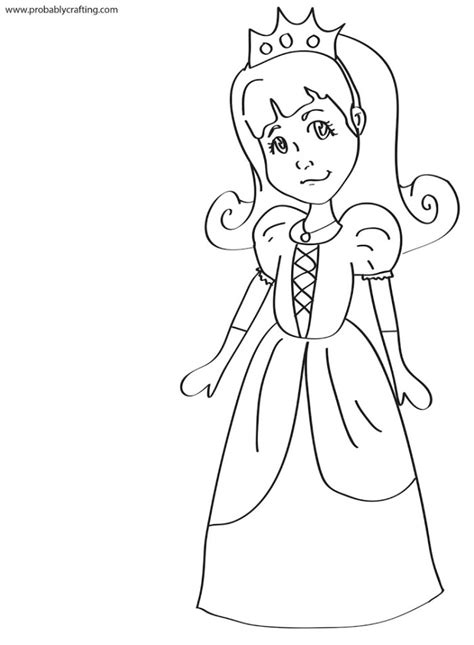 Free Princess Clip Art And Coloring Pages Miniature Princess Black And White Free Coloring Sheets