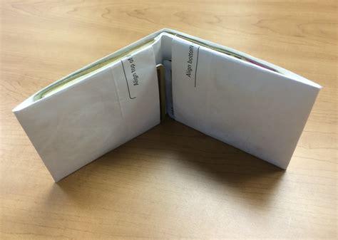 make your own credit card holder make your own gear 5 gram basso bifold wallet andrew skurka