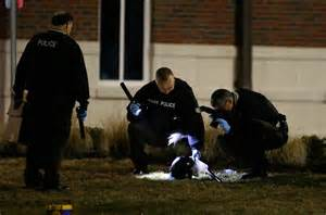cop shoots in ferguson seek suspects after two officers are nbc news